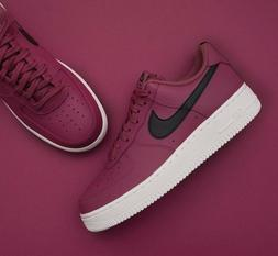 Mens Nike Air Force 1 Low Sneakers, Vintage Wine / Black AA4