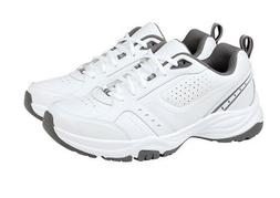 Kirkland Signature Mens Classic White Leather Athletic Shoes