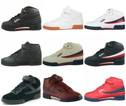 Mens Fila F13 F-13 Classic Mid High Top Basketball Shoes Sne