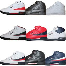 Mens Fila F13 F-13 Classic Mid High Top Basketball Shoes Sne