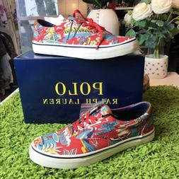 Polo Ralph Lauren Mens Hawaiian Red Floral Casual Slip On Sn