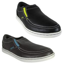 Crocs Mens Lopro Slip On Leather Sneaker Shoes