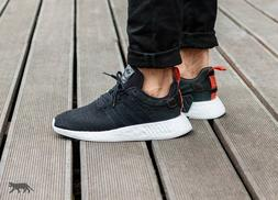 Mens Adidas NMD R2 Core Running Sneakers New, Black / Future