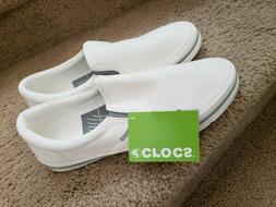 Men's Crocs Norlin Slip-On Sneaker Canvas Shoes 13 White r