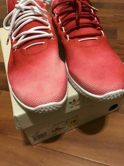 MENS ADIDAS PW HU HOLI TENNIS HU SNEAKERS 91/2  RED