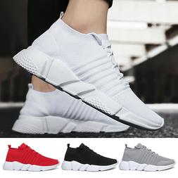 Mens Shoes Breathable Mesh Plus Size Sock Sneakers Knitted L