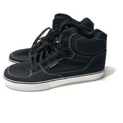 Airwalk Men's Size 10 Black Canvas High Top Sneakers White