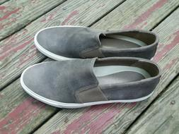 206 collective mens slip on sneaker size 13.5 D grey leather