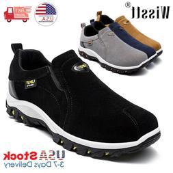 Mens Slip On Sports Outdoor Sneakers Running Walking Hiking