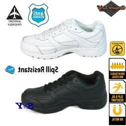 Mens Slip-Resistant Leather Work Shoes Sneakers water Resist