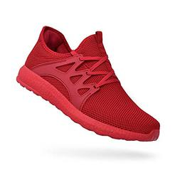 QANSI Mens Sneakers Breathable Lightweight Flyknit Athletic