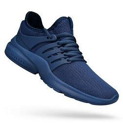 QANSI Mens Sneakers Flyknit Tennis Running Shoes Blue 12.5 M