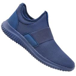 QANSI Mens Sneakers Slip-on Lightweight Athletic Running Wal