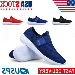 Mens Sneakers Slip-on Lightweight Athletic Running Walking G