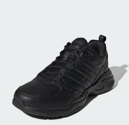 Men's adidas strutter wide width shoes Sneakers black trai