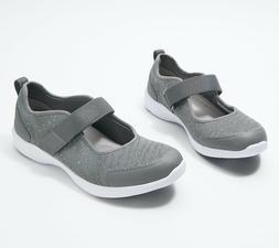 Vionic Mesh Adjustable Mary Jane Sneakers CHARCOAL **Free Sh