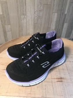 Skechers Mesh Bungee Slip-On Sneakers Twilight 5M Black