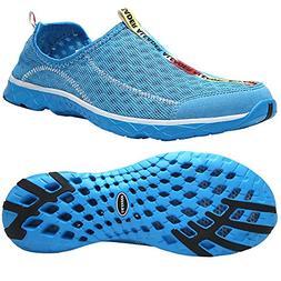 ALEADER Men's Mesh Slip On Water Shoes Blue 9 D US