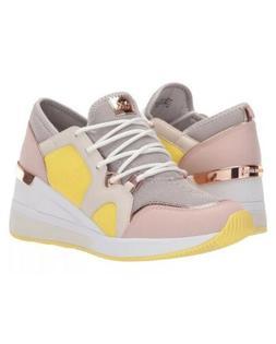 Michael Kors MK Women's LIV Trainer Mesh Sneakers Shoes Alum