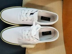 Polo Ralph Lauren Morray White Pony Canvas &  Sneakers Mens