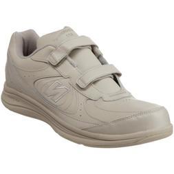 New Balance Men's MW577 Leather Hook/Loop Walking Shoe,Bone,