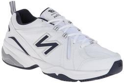 New Balance Men's MX608v4 Training Shoe, White/Navy, 9.5 4E