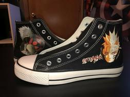 Naruto Converse Sneakers , Size 8, Gender Fluid/ Never Worn