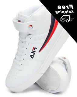 NEW 2018 MEN'S FILA VULC 13 MID PLUS WHITE RED BLUE CLASSIC