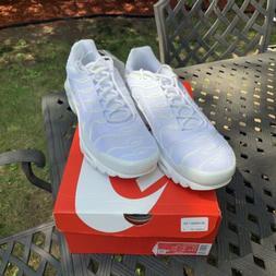 New Nike Air Max Plus Size 12 CJ9696-100 Triple White Sneake