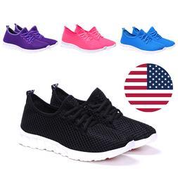 Women Walking Shoes Running Black Sneakers Athletic Sports C