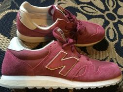 New Balance 520 Dragonfly Pink suede Sneaker Womens Size 8/