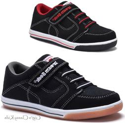 New Boys Black Canvas Tennis Shoes Athletic Sneakers Toddler