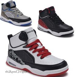 New Boys Girls High Top Sneakers Kids Tennis Shoes Basketbal