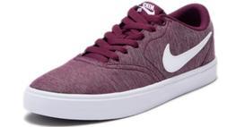 New Nike Check Canvas Skateboarding Sneaker for Women Bordex