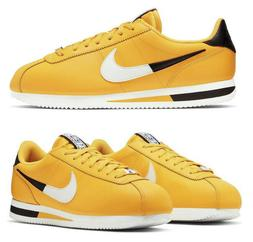 New NIKE Cortez athletic sneakers basic leather Mens yellow