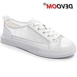 New Fashion White Lady Shoes Air Mesh Korean Style Women Lac