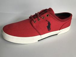 New Polo Ralph Lauren Faxon Low RL 2000 Red Lace Up Men's Sn