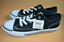 New Girls Airwalk Legacee Black White Lace Up Low Top Casual
