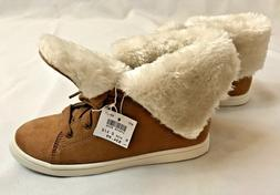 NEW Girls NIB AIRWALK Fur High Tops Sneakers 2 1/2 Youth Cam