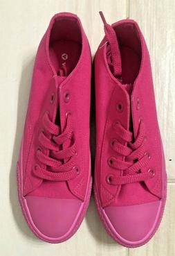 NEW AIRWALK Girls Size 5.5 Canvas Pink Shoes Sneakers
