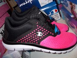 NEW CHAMPION HOT PINK & BLACK SNEAKERS MEMORY FOAM INSOLES F