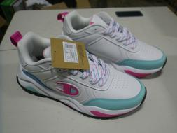 NEW IN BOX Champion 93Eighteen White/Pink/Teal Size 7
