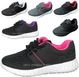 NEW Kids Boys Girls Sporty Mesh Sneaker Lace Up Tennis Shoe