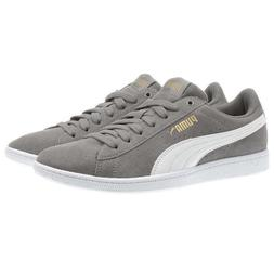 NEW PUMA Ladies Womens Suede Vikky GREY GRAY TenniS Shoes Sn