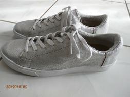 new lenox sneaker tennis shoes silver metallic