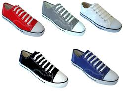 New Men's Canvas Sneakers Classic Lace Up Fashion Casual Sho