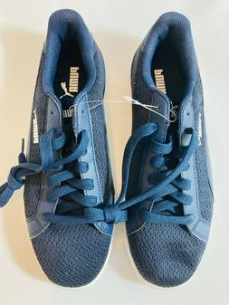 NEW PUMA Men's Smash Knit C Sneakers Navy