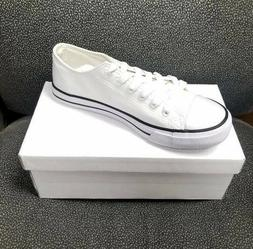 New Men's Sport Shoes Low Top Canvas Sneakers - Trendy Shoes