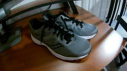 New Mens Saucony Grid Cohesion 11 Gray/Black Sneakers Size 9