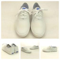 Keds New Mens White Leather Lace Up Casual Work Tennis Shoes